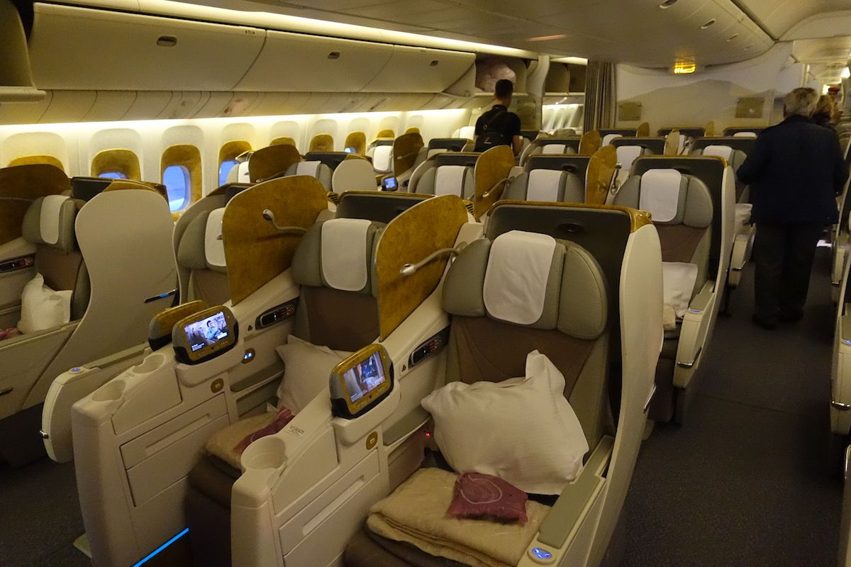 Impressions Of Emirates 777300ER Business Class One