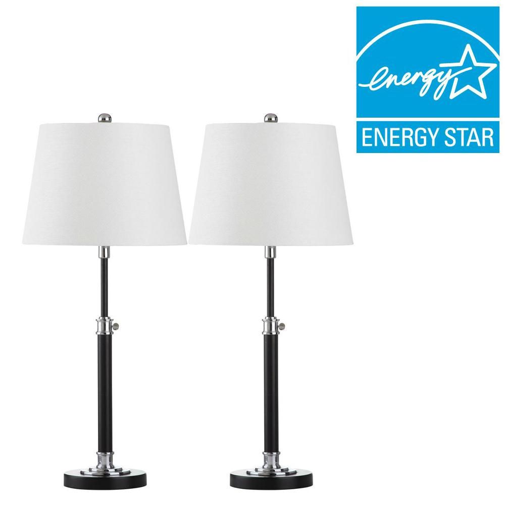 Safavieh Jones 29 in. Black Table Lamp (Set of 2)