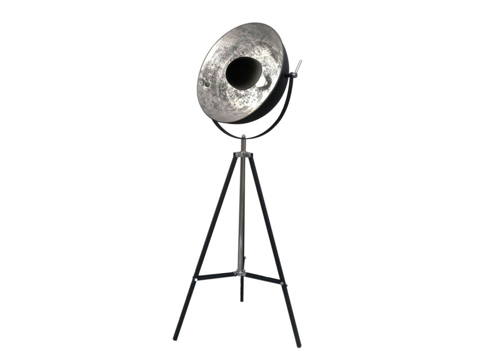 Lampadaire Cinema Industriel Movie H 166 Cm Bicolore Interieur Argente Exterieur Noir De La Marque Inside Art Vloerlamp Lampen Woonideeen
