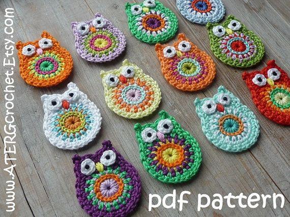 Häkeln Sie Muster OWL-Schlüsselanhänger von von ATERGcrochet ...