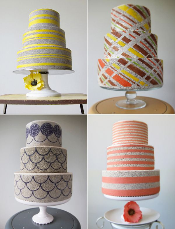 cool textured cakes