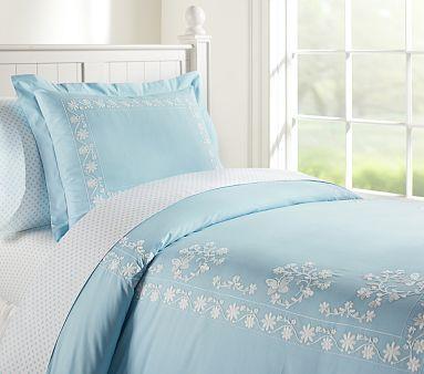 Isabelle Duvet Cover Blue Bedding Sets Light Blue