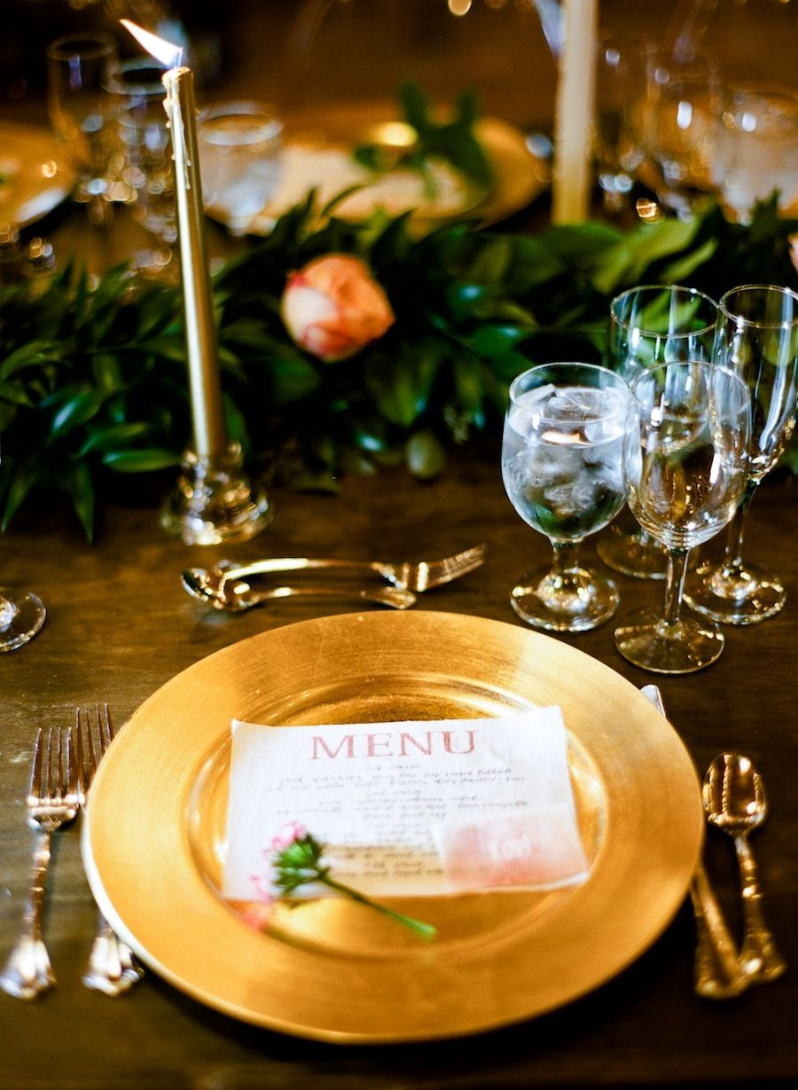 Rustic th birthday bash from ashley nicole events gold chargers