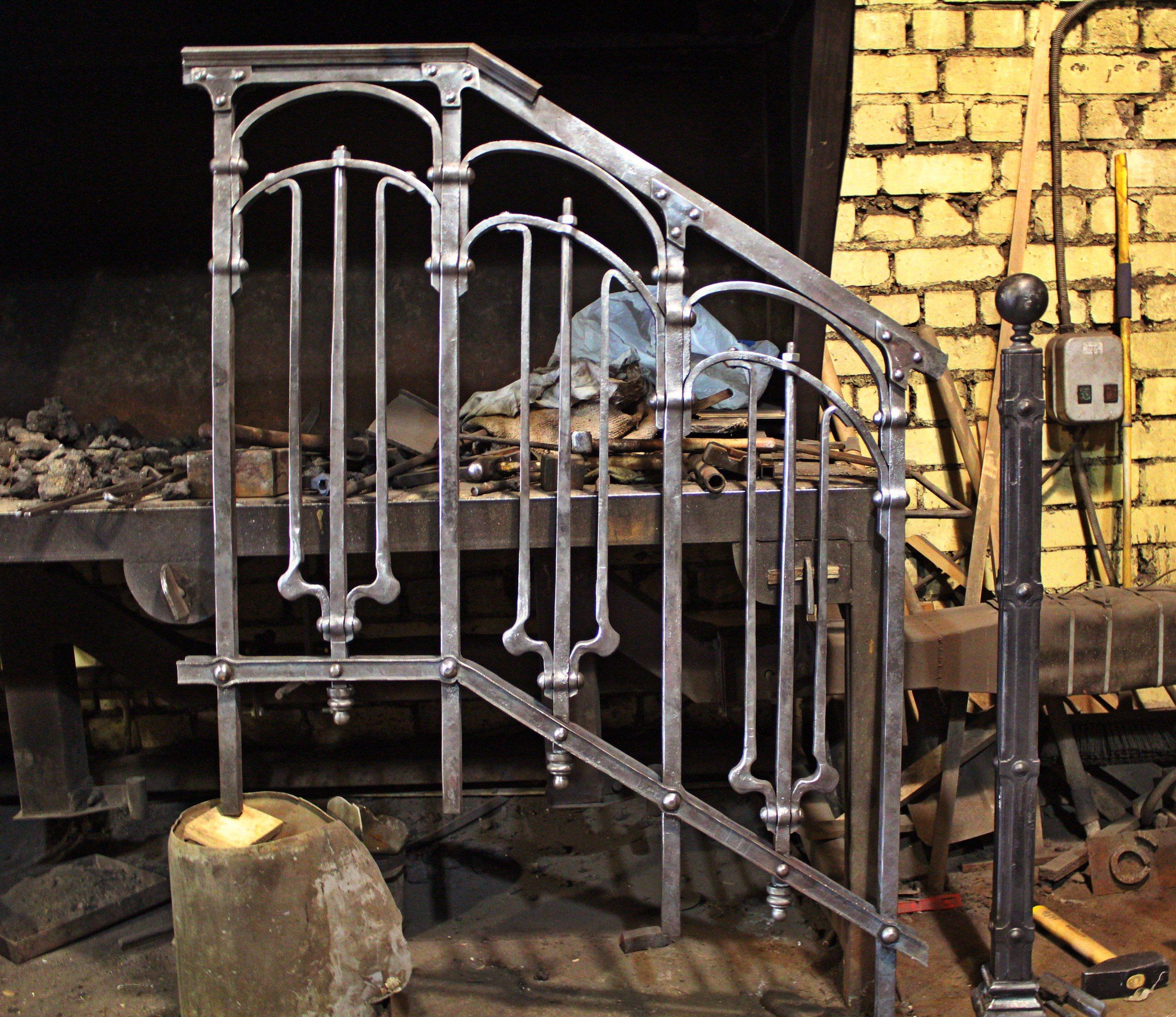 Wrought Iron Railings In Art Nouveau Style Wrought Iron Stair