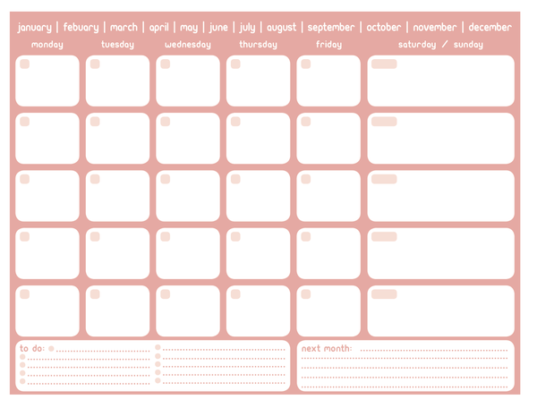 printable monthly planner by sean mcgee via behance personal