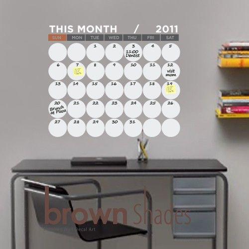 dry erase calendar.
