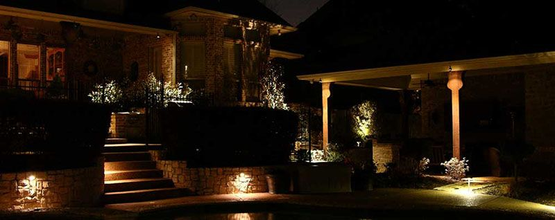 Dallas Fort Worth Creative Nightscapes Patio Exterior Led