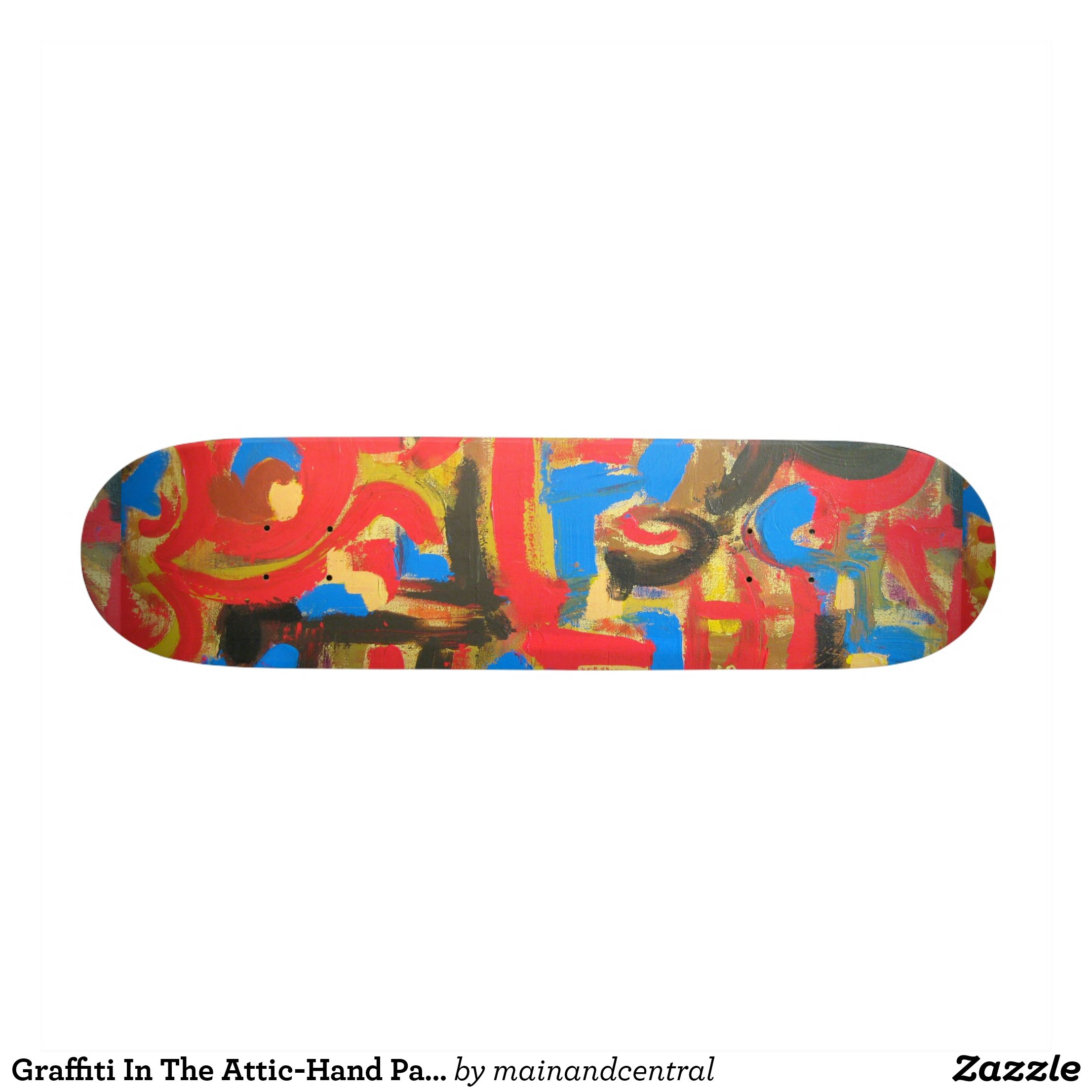 0c9e3f8e6e6 Graffiti In The Attic-Hand Painted Abstract Art Skateboard - Supreme  Hard-Rock Maple Deck Custom Boards By Talented Fashion   Graphic Designers  -  skating ...