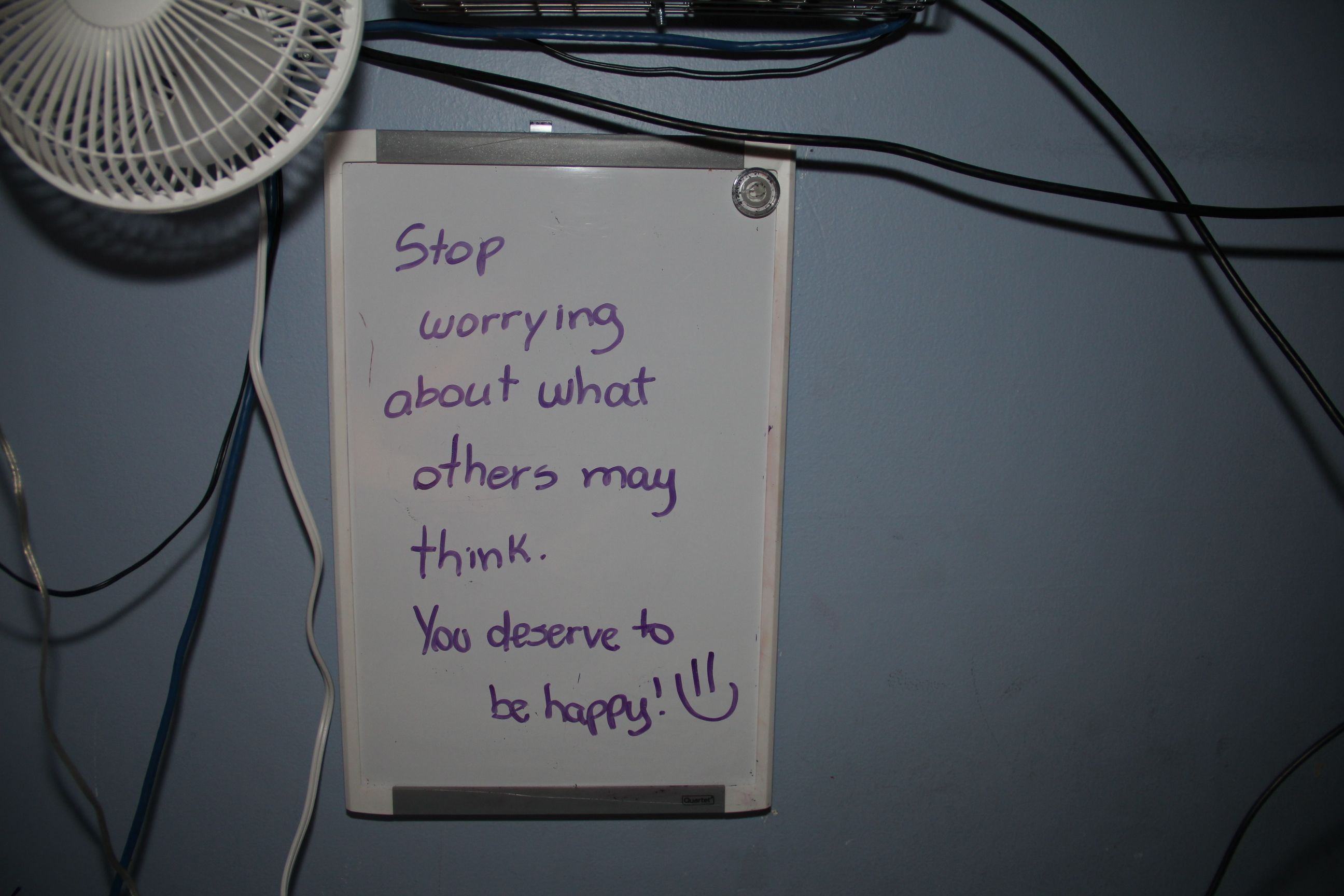 """"""" Stop worrying about what others may think. You deserve to be happy! """""""