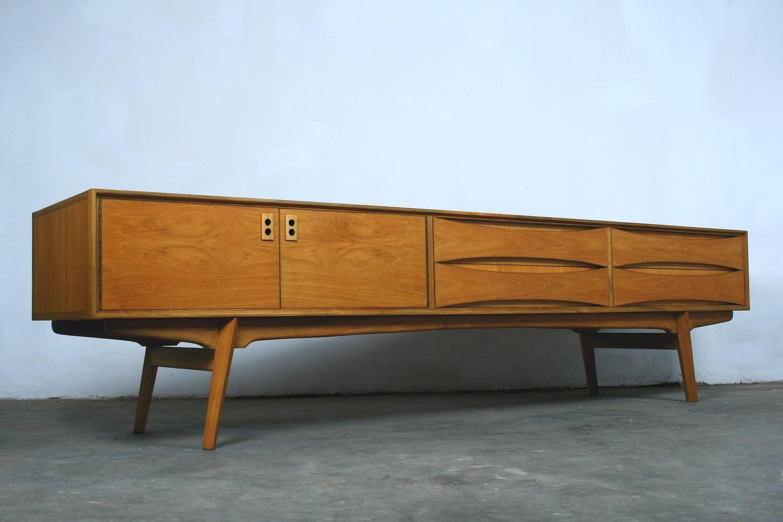 Lowboard Modern mid century retro vintage belgian lowboard sideboard buffet credenza