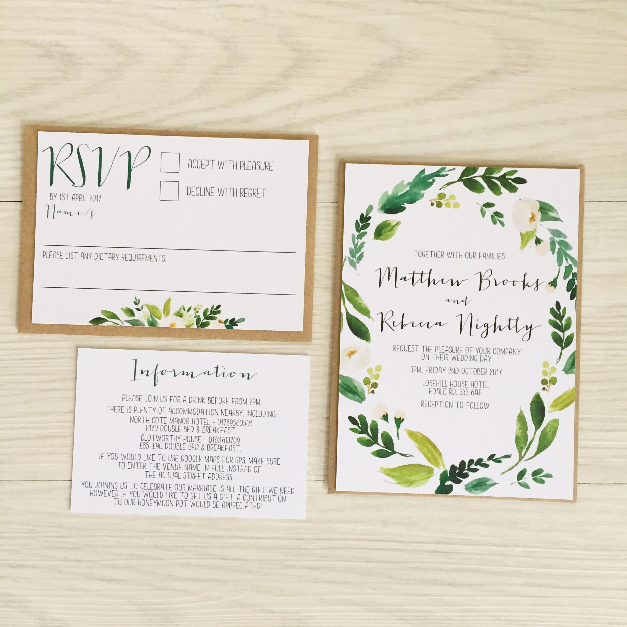 9 Beautiful + Affordable Greenery Invitations | greenery wedding ...