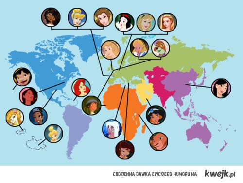 Princess World Map Other Pinterest Disney Girls Disney World