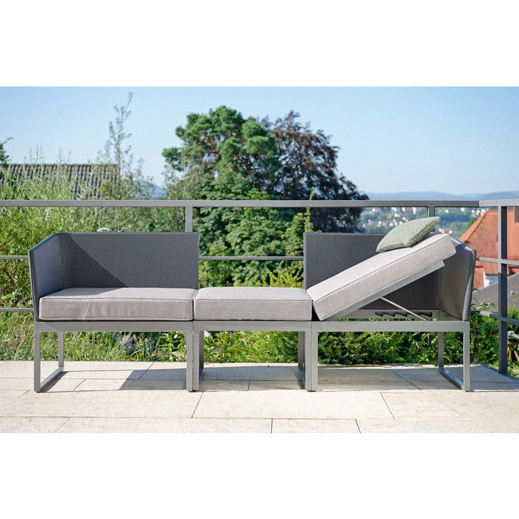 3 in 1 lounge liege und sofa donna von stern m bel modern und wasserfest f r balkon. Black Bedroom Furniture Sets. Home Design Ideas