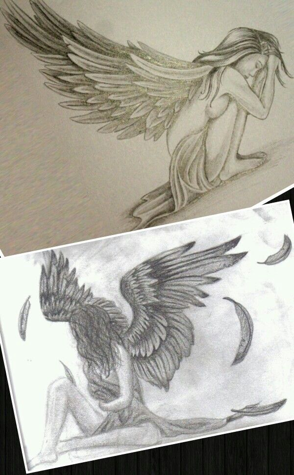 Fallen Angel Tattoos Are Beautiful With Images Drawings