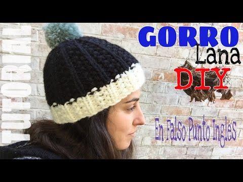 Gorro de Lana tejido en Falso punto Ingles para agujas circulares y dos  agujas - YouTube 714dc2ebdab
