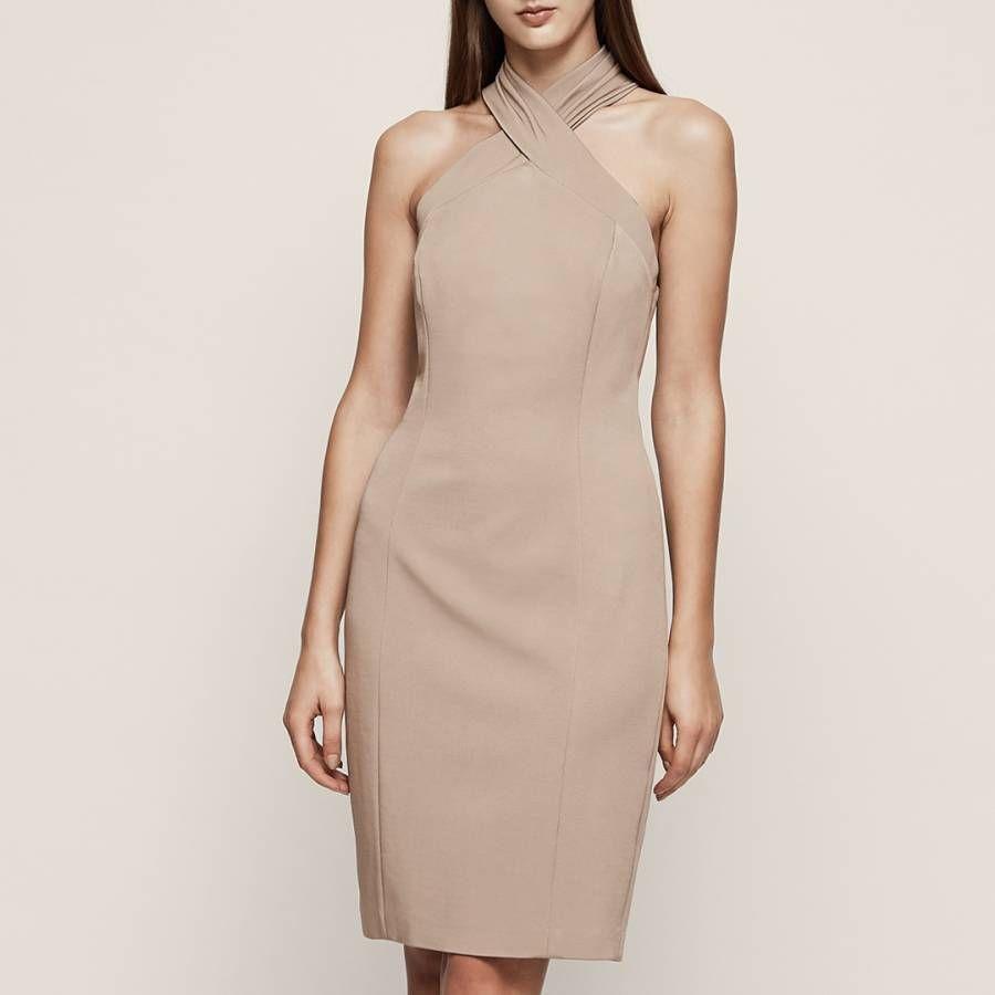 Reiss Hellbraun Zaira Gewickelt Bodycon Kleid 10 38 14 42 Kleider Mode Trend Frau Dame Geschenkideen Dresses Reiss Dresses Skinny Dress