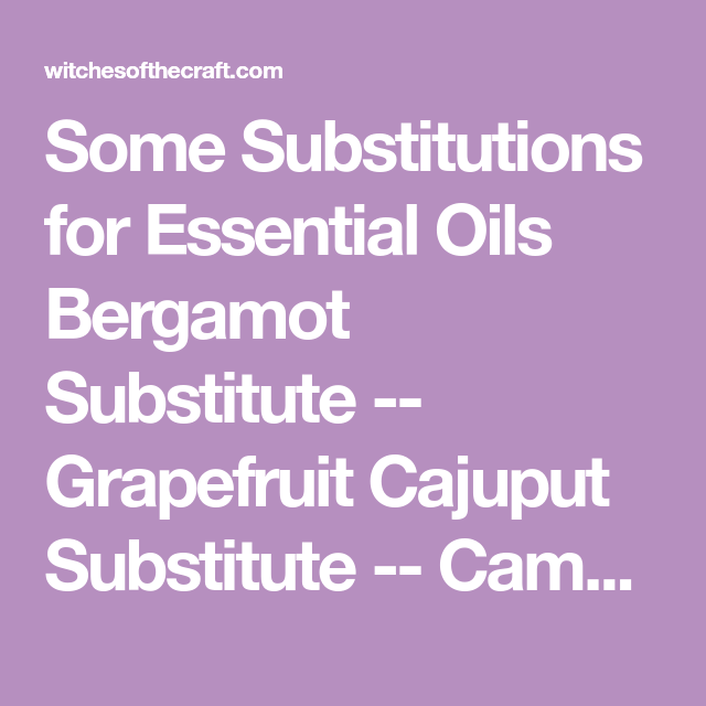 Some Substitutions For Essential Oils Lavendar Essential Oil