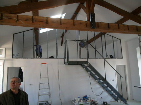 chambre en mezzanine 2 combles pinterest atelier et mezzanine. Black Bedroom Furniture Sets. Home Design Ideas