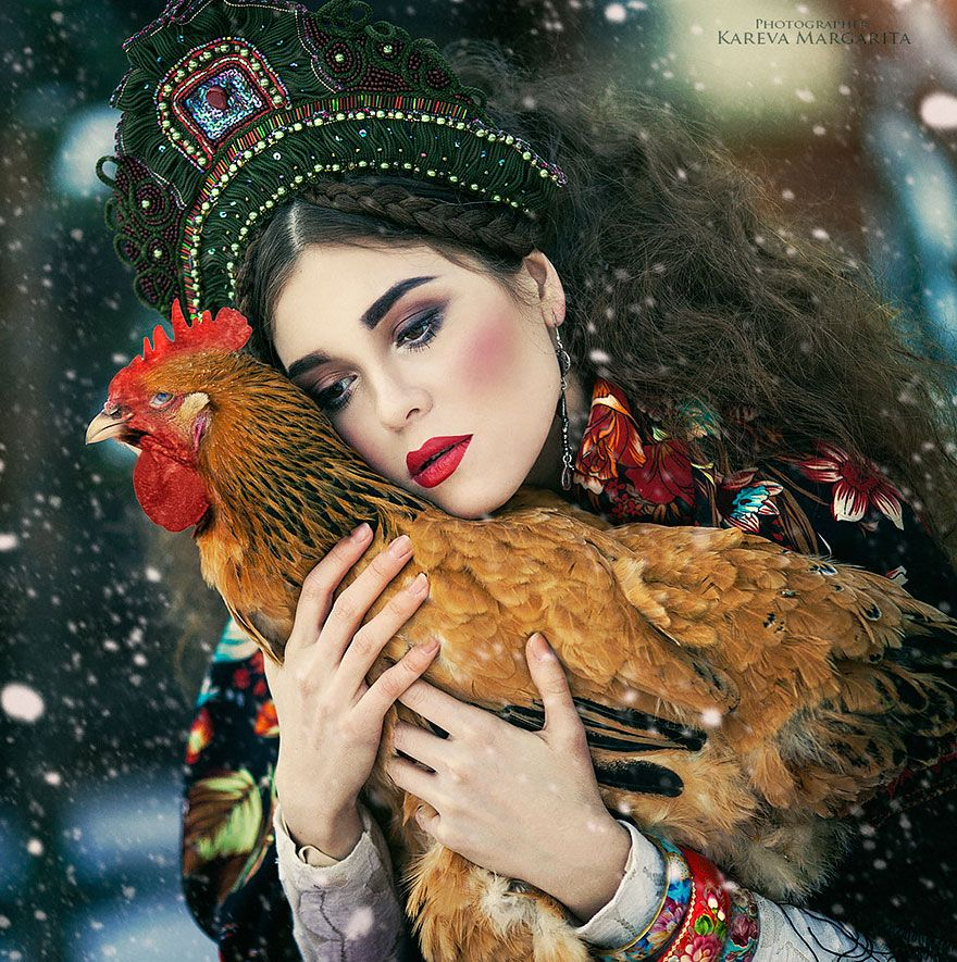 Fairytales Come To Life In Magical Photos By Russian Photographer - Russian photographer takes enchanting fairytale photos featuring wild animals