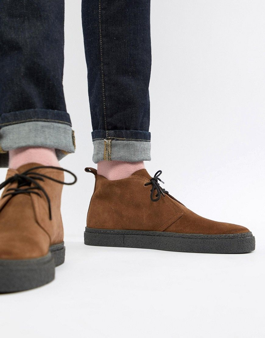 ca0425de3d4e6 FRED PERRY HAWLEY MID SUEDE BOOTS IN BROWN - BROWN. #fredperry ...