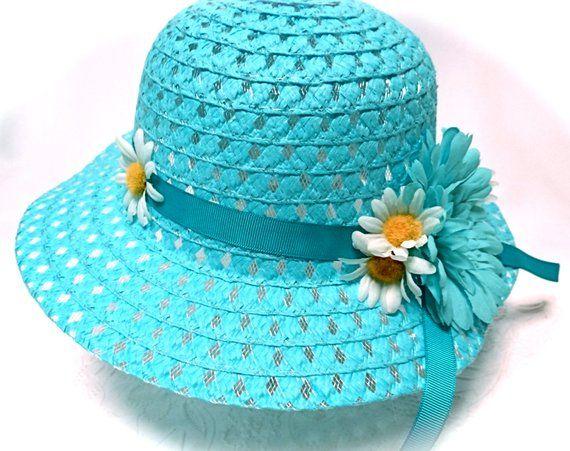 Girls Sunbonnet Easter Bonnet Flower Girl Hats Tea Party Hat GH-131 ... 4564c4c2735e
