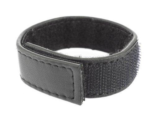Erotic Fashion ra7395 Penisring, schwarz Leder Verstellbar, 1er-Pack (1 x 1 Stück)