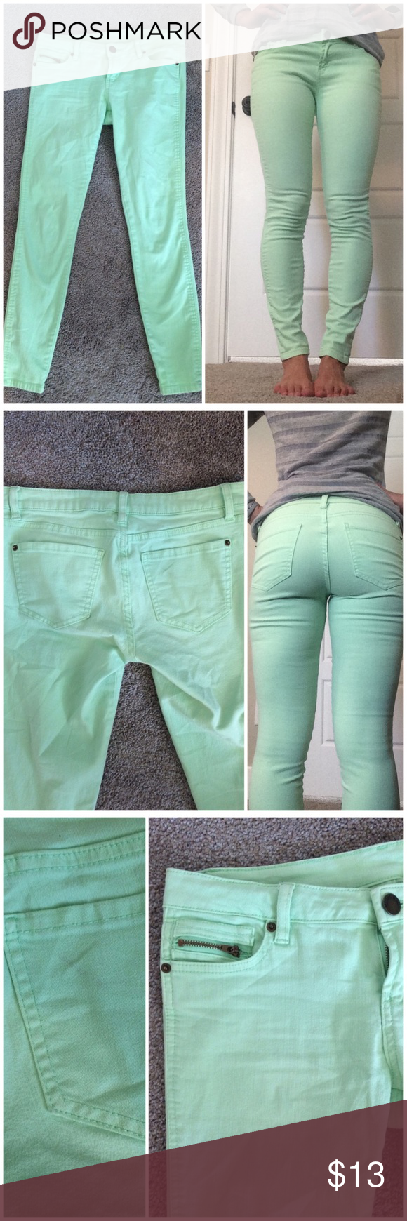 2019 year looks- Green Mint skinny jeans forever 21 pictures