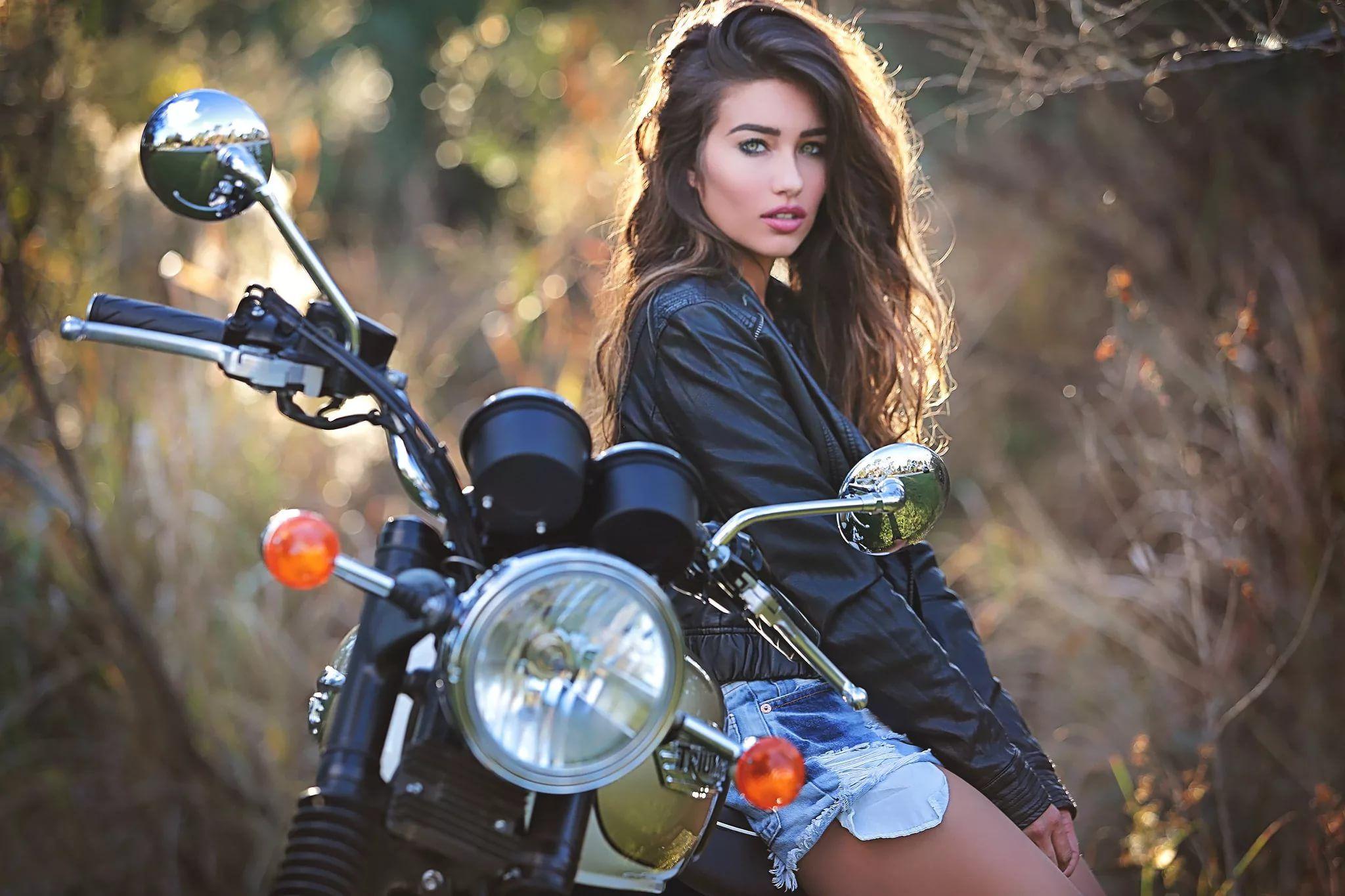 Образы для фотосессии на мотоциклах