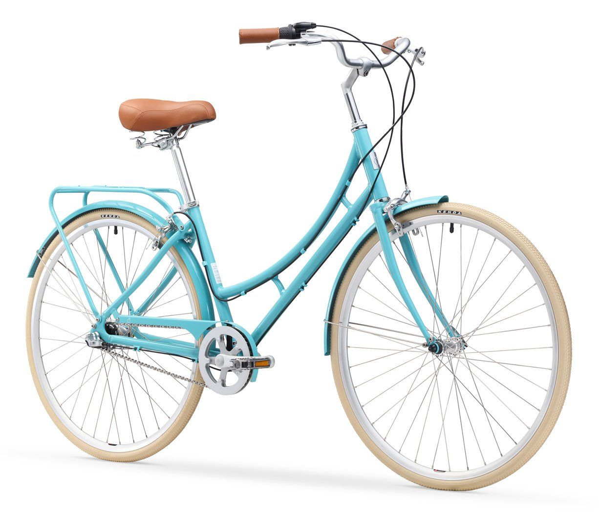 Ride In The Park Women S 3 Speed Touring City Bike With Rear Rack