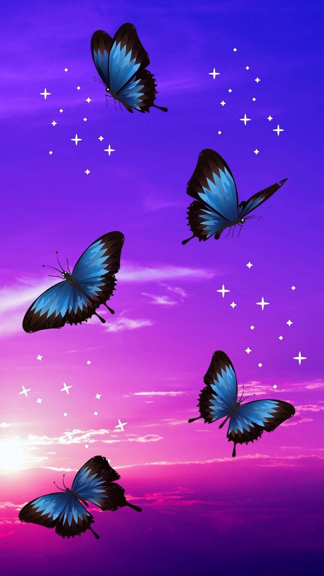 Beautiful Blue Butterfly Wallpaper Ideas For Your IPhone!