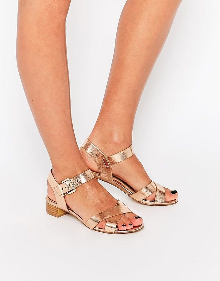 Head Over Heels By Dune - Flache Sandalen in Metallic-Silber - Silber QJqWAjRXb