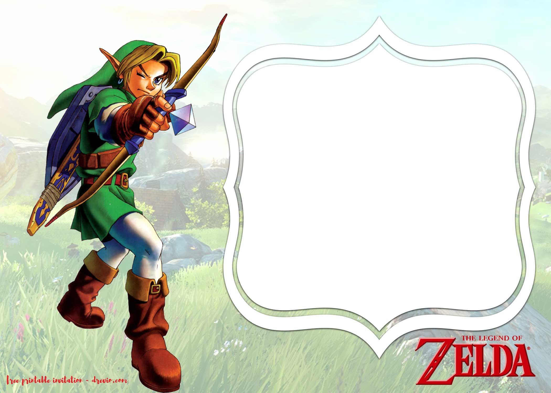 Nice FREE Printable Legend Of Zelda Invitations Templates