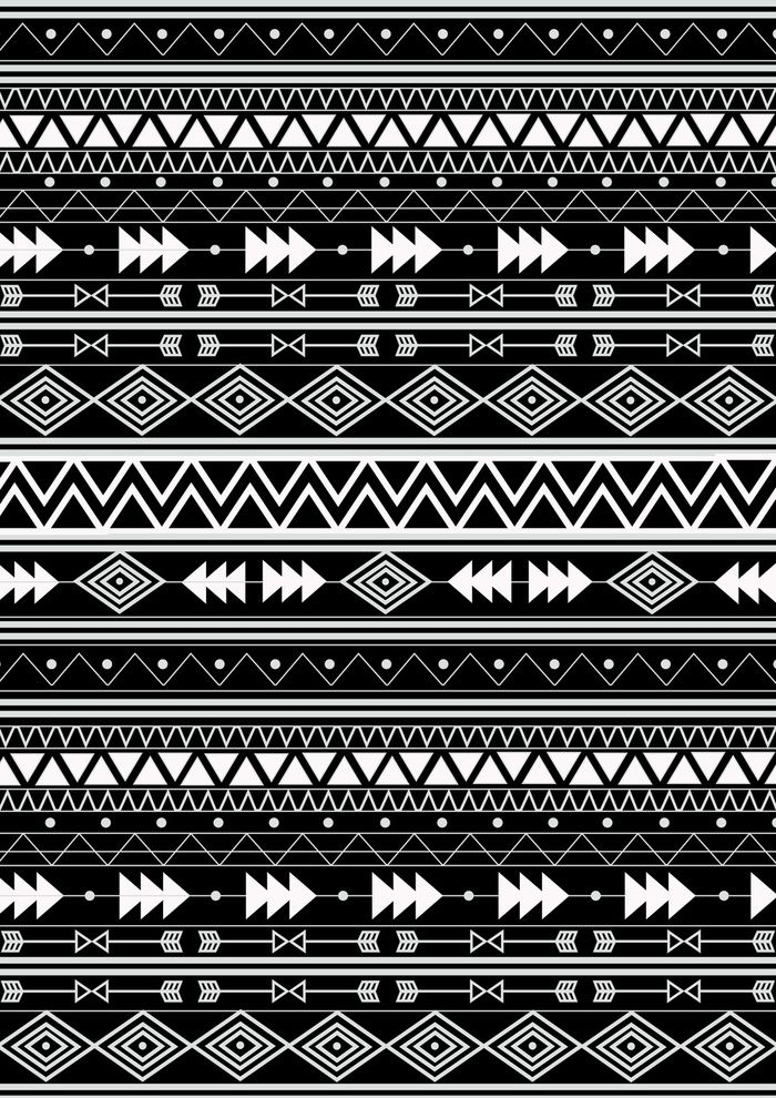 8x12 FT Geometric Vinyl Photography Background Backdrops,Hand Drawn Aztec Inspired Monochrome with Various Tribal Elements Background for Child Baby Shower Photo Studio Prop Photobooth Photoshoot
