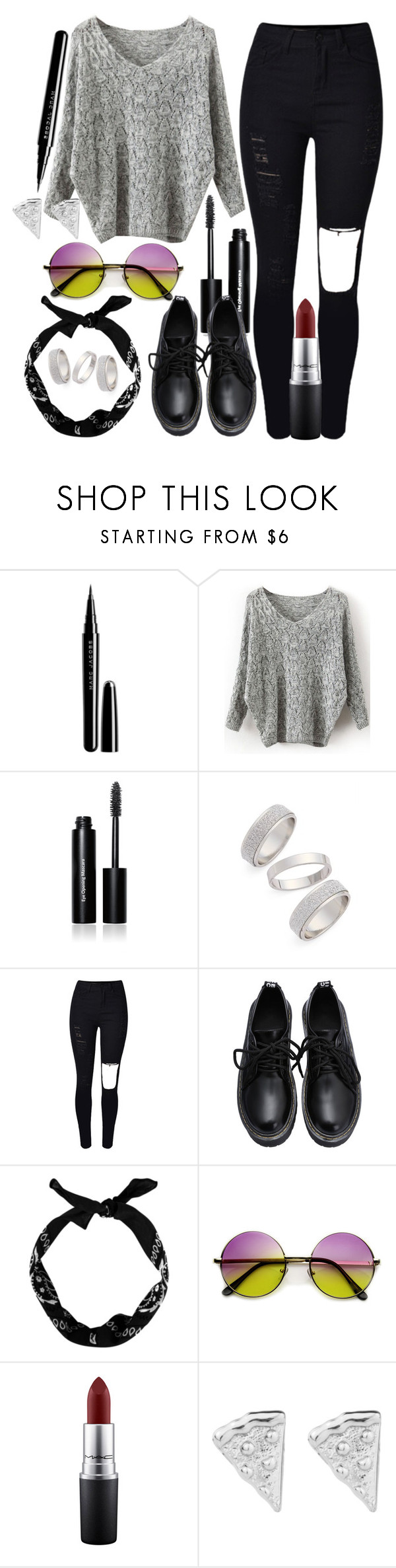 """"" by maiiira-nair ❤ liked on Polyvore featuring Marc Jacobs, Bobbi Brown Cosmetics, Topshop, MAC Cosmetics, women's clothing, women, female, woman, misses and juniors"