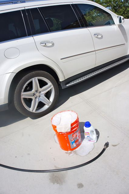 Wash your Car with Woolite... fill my clean bucket half ...