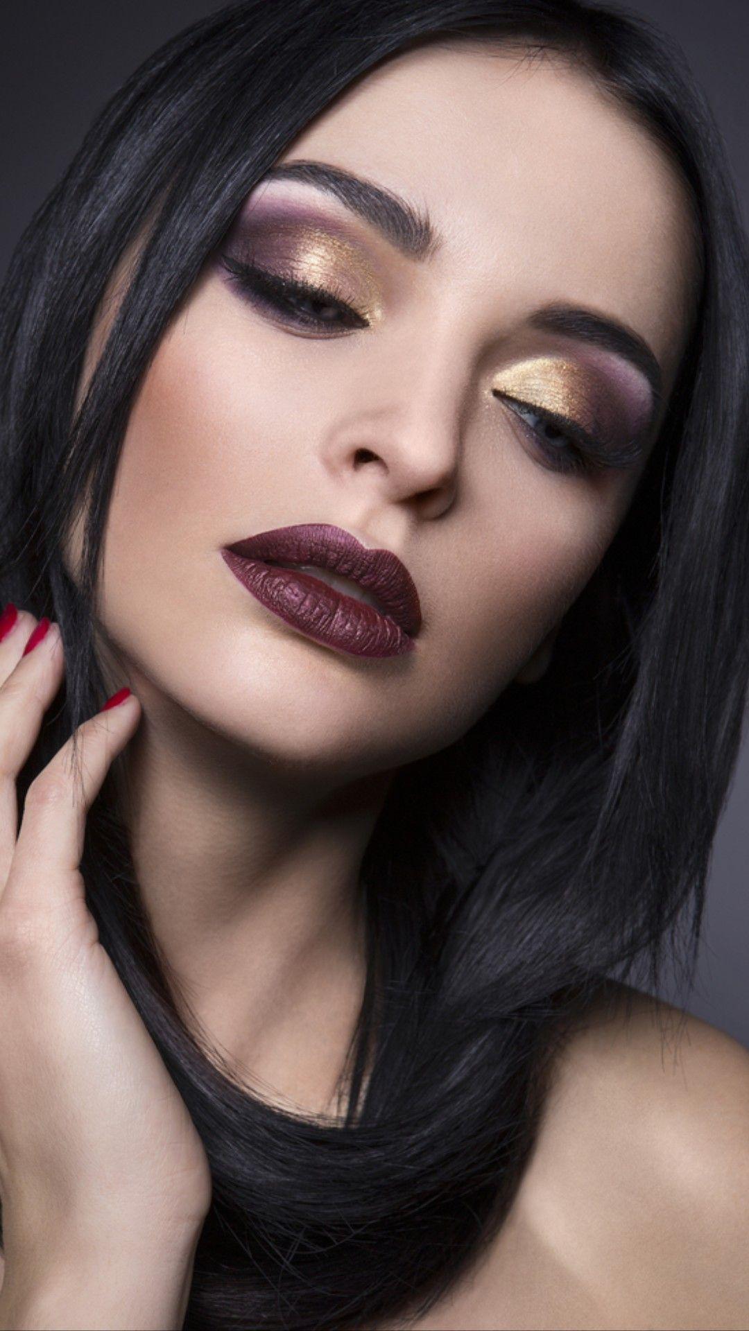 Pin by Maggie Gorham on Make Up Dark lipstick, Beauty