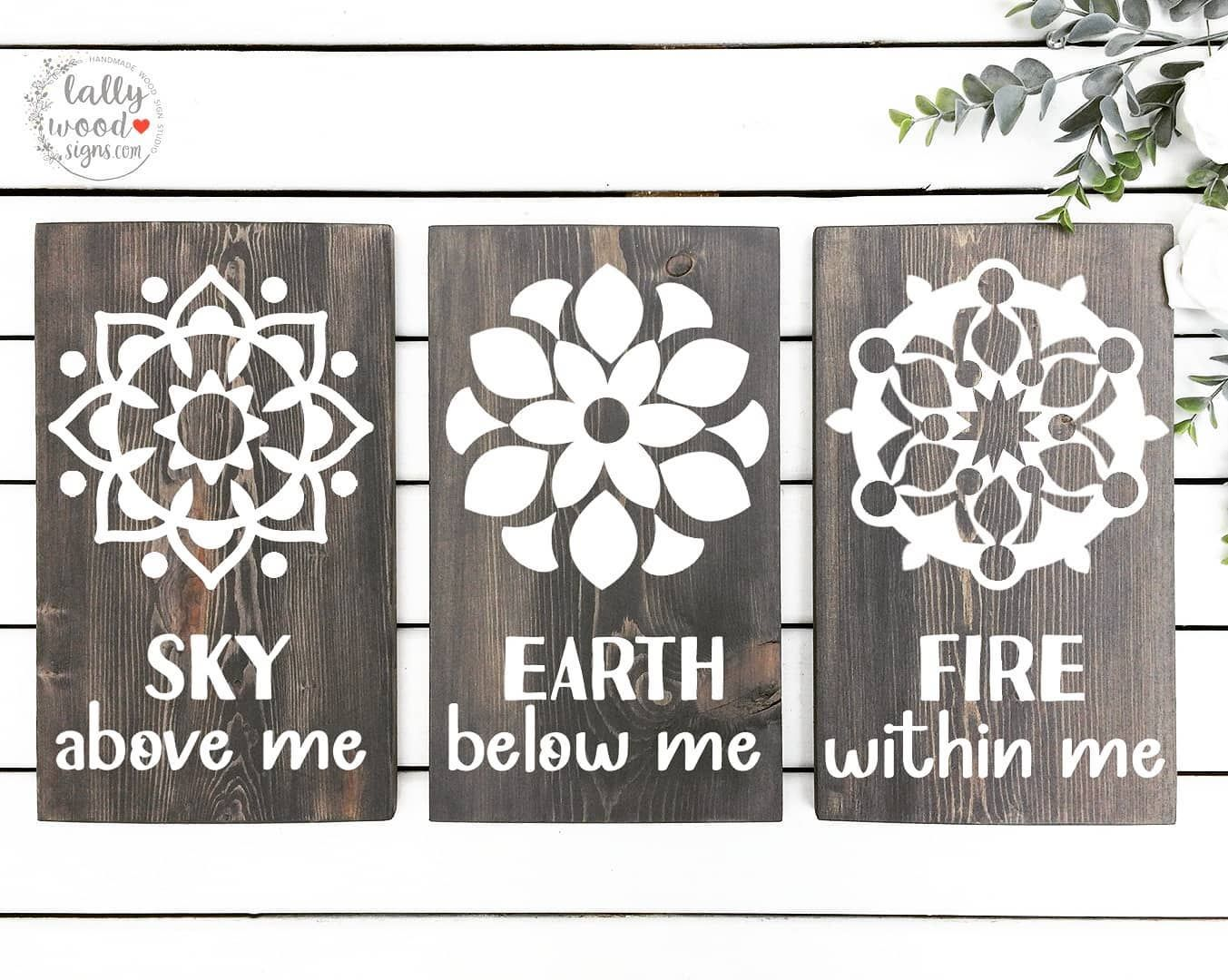 Sky above me, Earth below me, Fire within me #skyaboveme #earthbelowmeskyabovemefirewithinme #firewithinme🔥  #lallywoodsigns #woodsign #passion