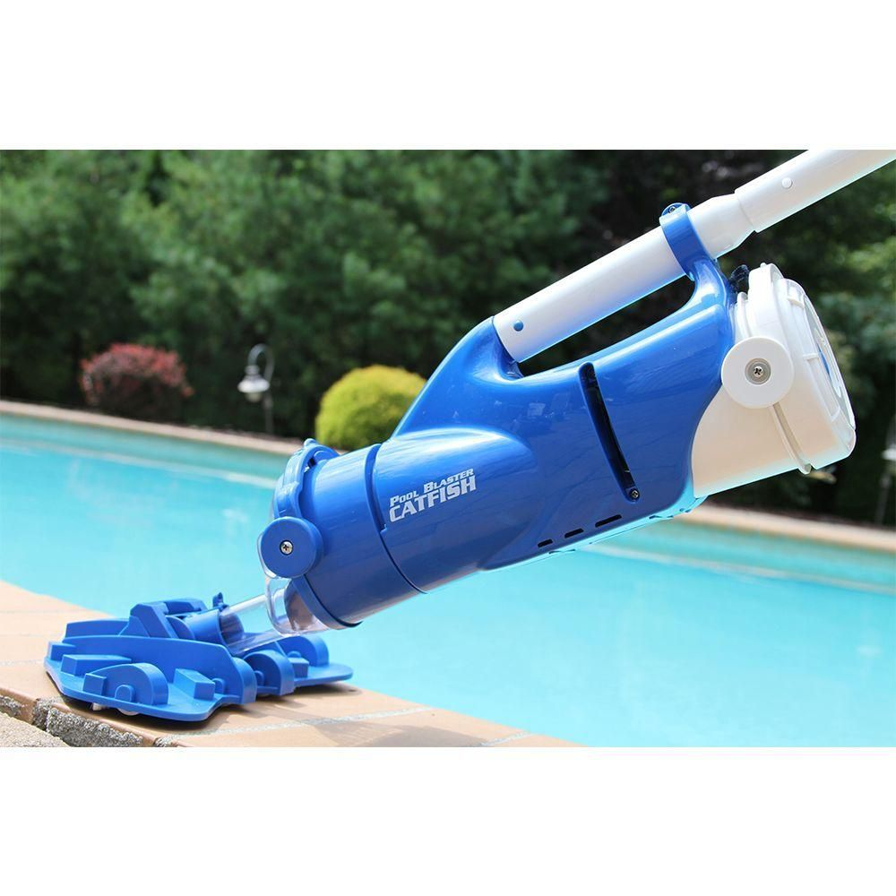 Water Tech Catfish Ultra Rechargeable Battery Powered Pool And Spa Vacuum With Segmented Pole Set Pool Blaster Catfish Ultra The Spa Pool Pool Pool Cleaning