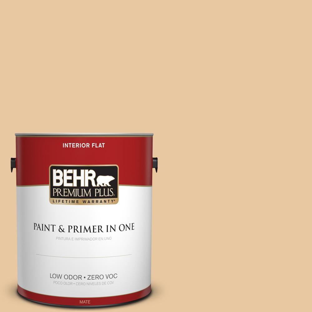 BEHR Premium Plus 1 gal. #PPU4-15 Jasper Cane Zero VOC Flat Interior Paint