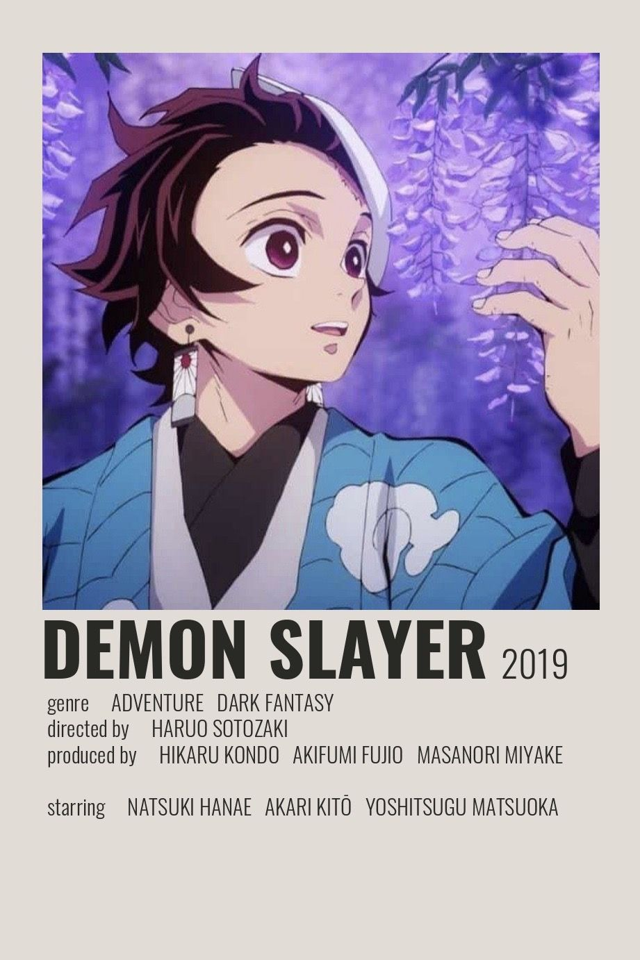 Demon Slayer Poster By Cindy Anime Canvas Anime Films Anime Titles