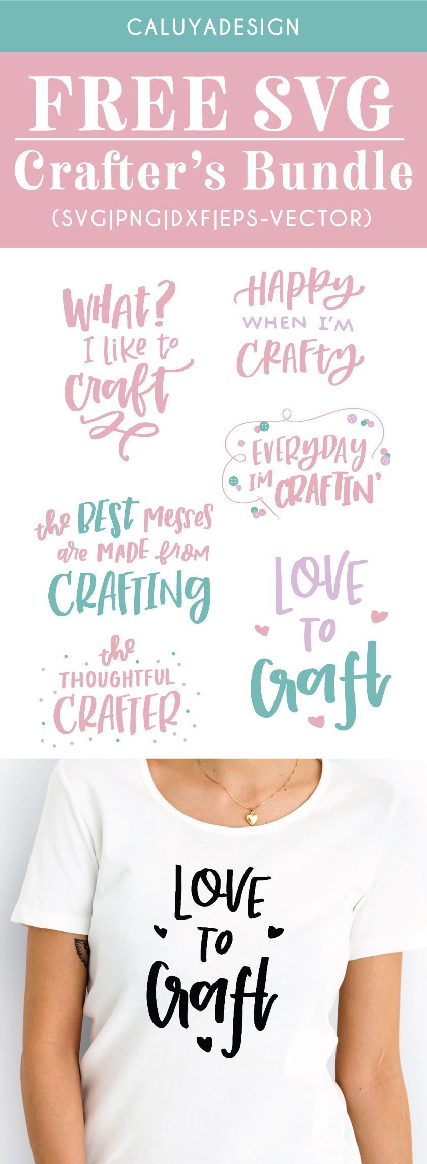 Funny quote Clip Art Svg Dxf Eps Happy Crafter Svg Crafting Svg cut file Files for Cricut or Silhouette Crafters gonna craft SVG Design