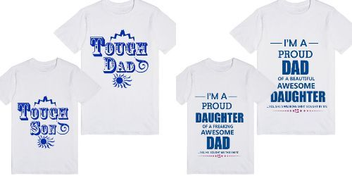 46d6168f buy Fathers Day Matching Father, Son, Daughter T-shirts Online India ...