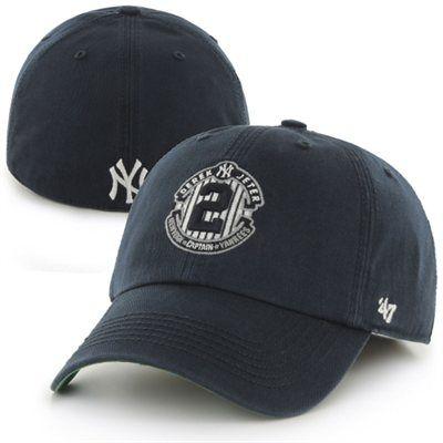 47 Brand Derek Jeter New York Yankees Navy Blue Final Season Franchise Fitted Hat New York Yankees Apparel Yankees Outfit Yankees Gear