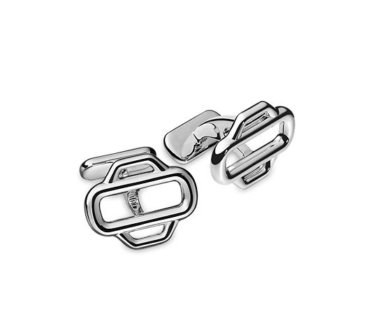 "Hermes cufflinks in silver<br><br><span style=""color: #F60;"">This item may have a shipping delay of 1-3 days.</span><br><br>"