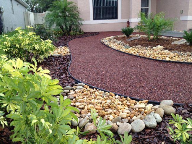 gartengestaltung-ohne-rasen-steine-mulch | Garten | Pinterest