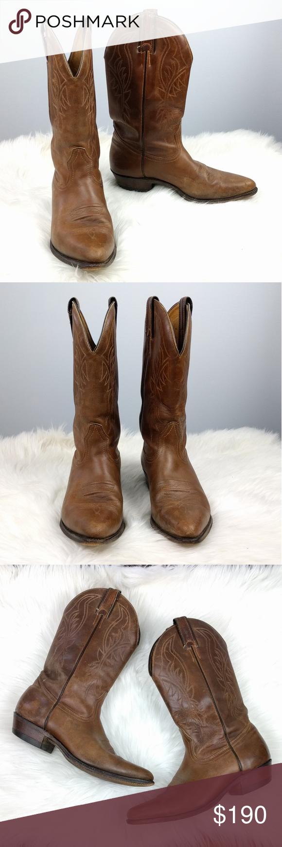 c6a38d7e739 Boulet Challenger Distressed Cowboy Boots 8 Boulet Challenger Cowboy ...