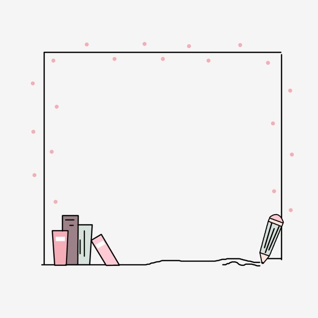Cute Minimalistic Cartoon Creative Hand Drawn Stationery Border, Simple, Lovely, Cartoon PNG Transparent Clipart Image and PSD File for Free Download