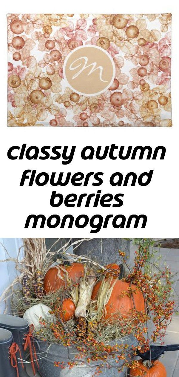 Excellent Free Classy autumn flowers and berries monogram cloth placemat   zazzl... ,  #Autumn #Berries #classy #cloth #Excellent #flowers #FREE #monogram #Placemat #thanksgivingdecorationsentryway #zazzl
