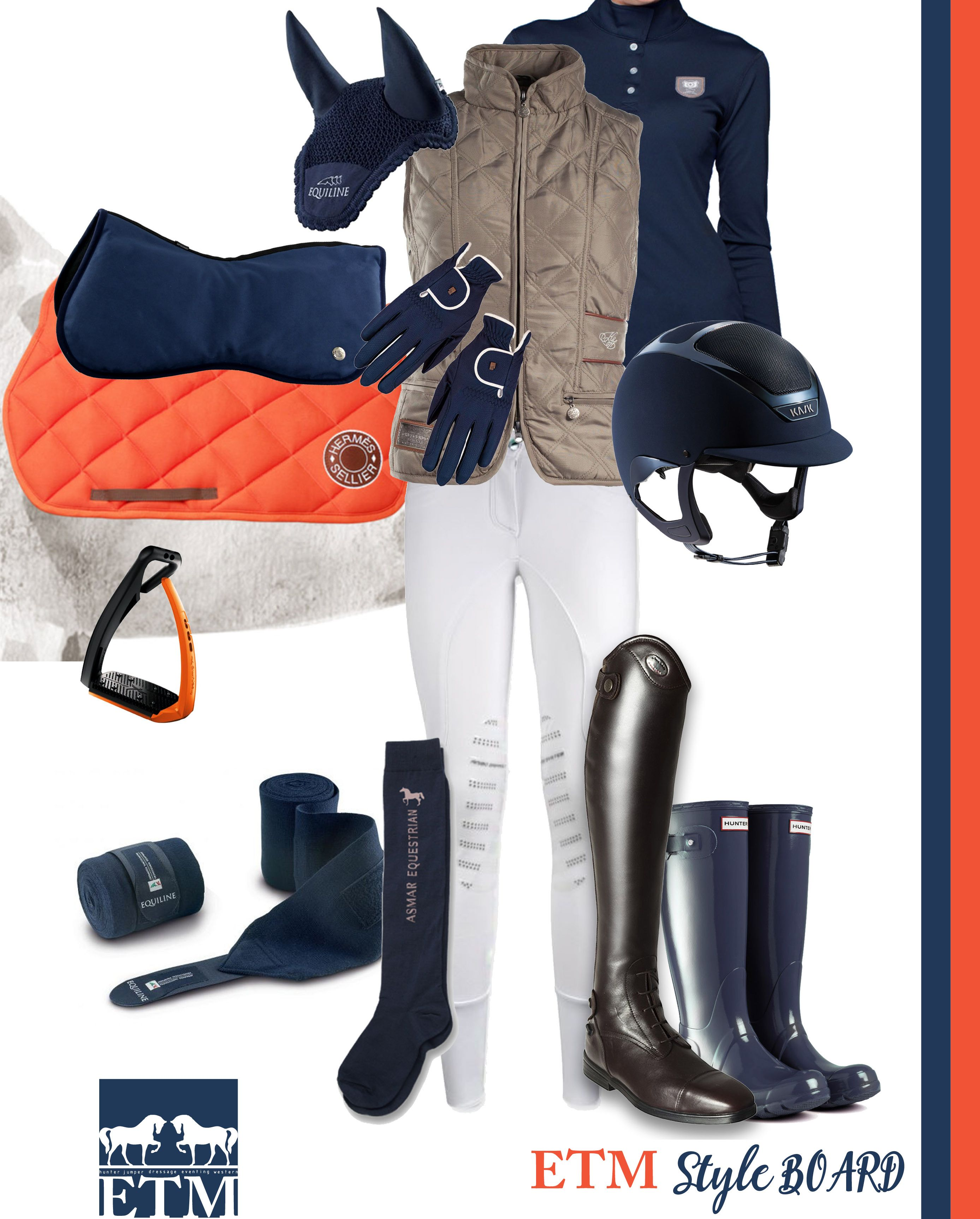 Our very own Style Board ORANGE and NAVY Equestrian