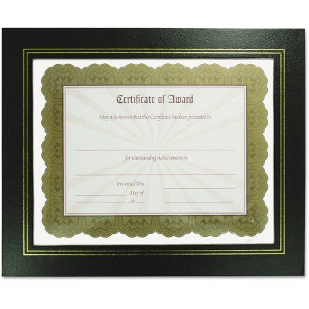 NuDell Leatherette Document Frame, 8-1/2 x 11, Black, Pack of Two ...